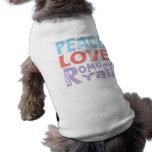 peace love Romney Ryan Pet Tee