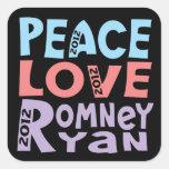 peace love Romney Ryan Sticker