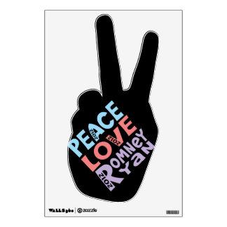 peace love Romney Ryan Wall Skin