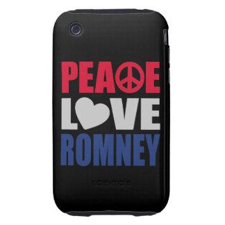 Peace Love Romney Tough iPhone 3 Cases