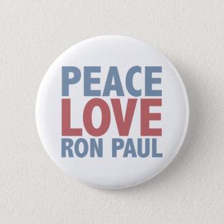 Peace Love Ron Paul Button
