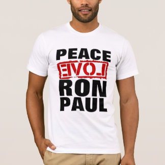 peace, love, Ron Paul T-Shirt