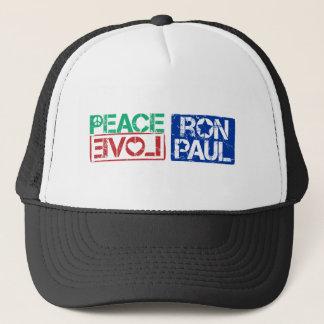 peace love Ron Paul Trucker Hat