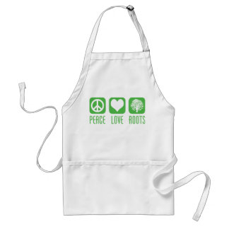 PEACE LOVE ROOTS ADULT APRON