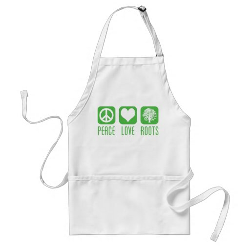 PEACE LOVE ROOTS APRONS
