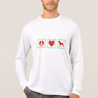 Peace Love Rottweilers Squares T-shirt
