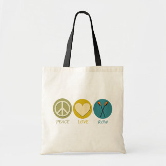 Peace Love Row Budget Tote Bag