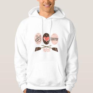 Peace Love Row Hooded Sweatshirt