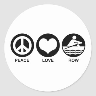 Peace Love Row Stickers