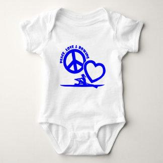 PEACE-LOVE-ROWING BABY BODYSUIT