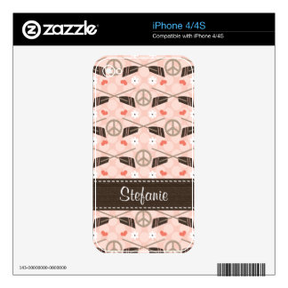 Peace Love Rowing Crew iPhone 4 / 4s Skin iPhone 4S Skin