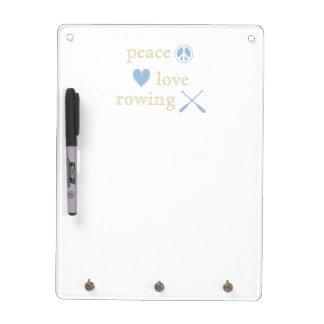 Peace Love Rowing Dry-Erase Board