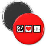 peace love rowing fridge magnets