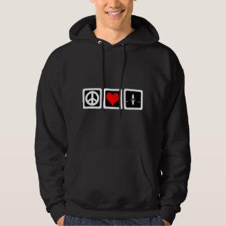 peace love rowing hoodie