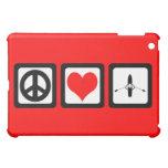 peace love rowing iPad mini cover