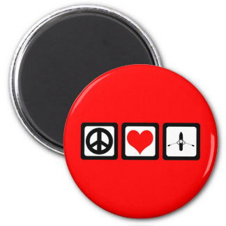 peace love rowing magnet