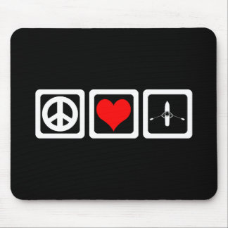 peace love rowing mouse pad