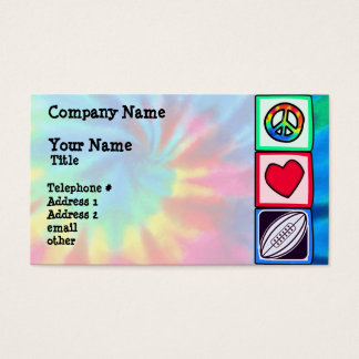 Peace, Love,  Rugby Football Business Card