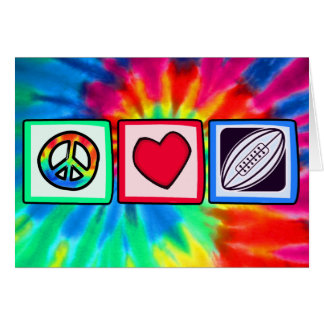 Peace, Love,  Rugby Football Greeting Card