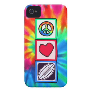 Peace, Love,  Rugby Football iPhone 4 Case