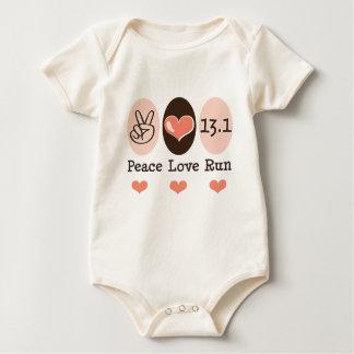 Peace Love Run 13.1 Half Marathon Baby Bodysuit