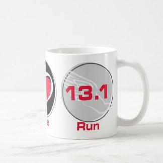 Peace Love Run 13.1 Half-Marathon Coffee Mug