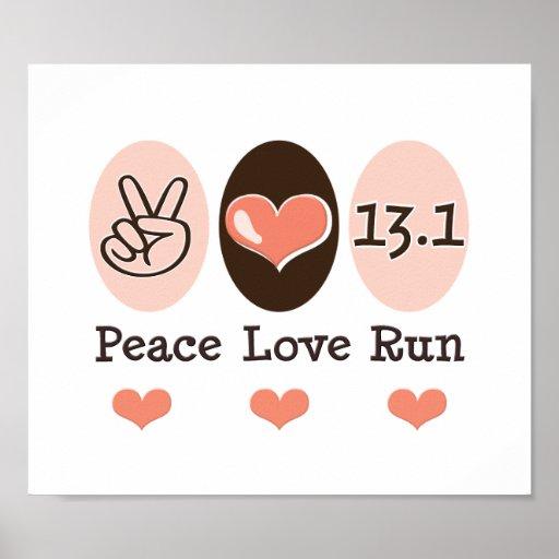 Peace Love Run 13.1 Half Marathon Poster