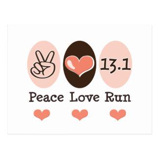 Peace Love Run 13.1 Postcard