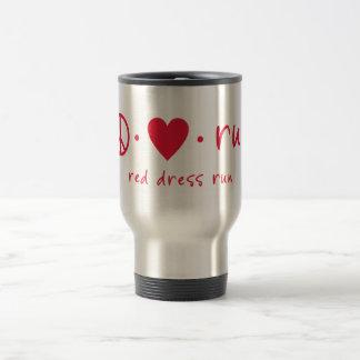 Peace Love Run 15 Oz Stainless Steel Travel Mug