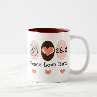 Peace Love Run 26.2 Marathon Mug