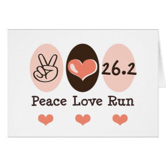 Peace Love Run 26.2 Note Cards