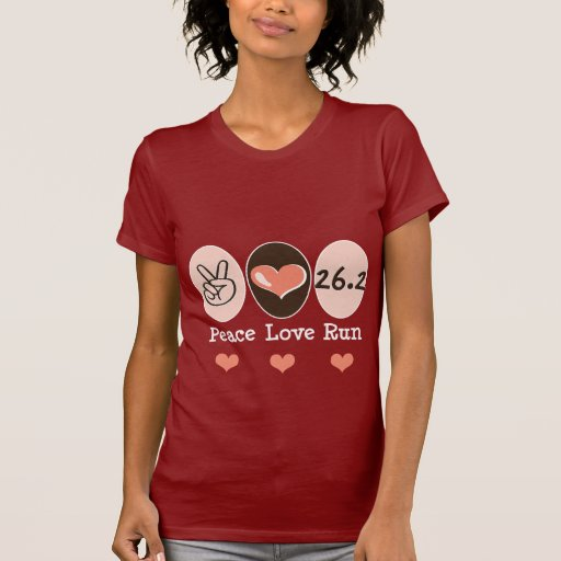 Peace Love Run 26.2 T Shirt