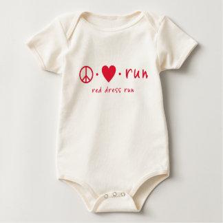 Peace Love Run Baby Bodysuits