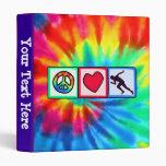 Peace, Love, Run Binder