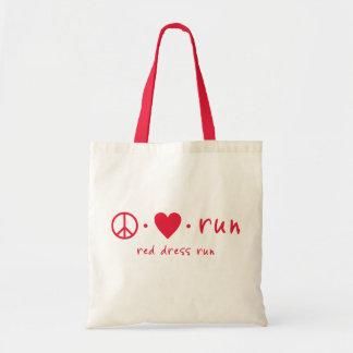 Peace Love Run Budget Tote Bag
