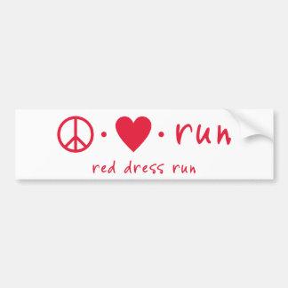 Peace Love Run Bumper Stickers