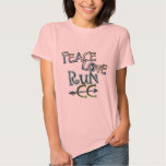PEACE LOVE RUN CC - Cross Country T Shirts