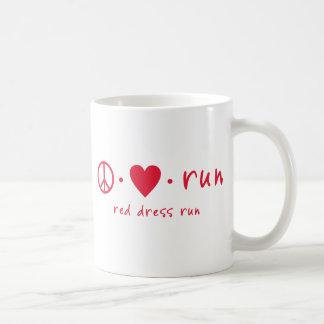 Peace Love Run Classic White Coffee Mug