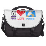 PEACE LOVE RUN - CROSS COUNTRY BAG FOR LAPTOP
