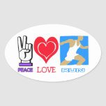 PEACE LOVE RUN - CROSS COUNTRY OVAL STICKERS
