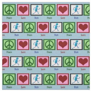 Peace Love Run Fabric