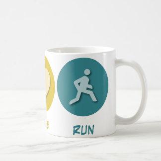 Peace Love Run Coffee Mug