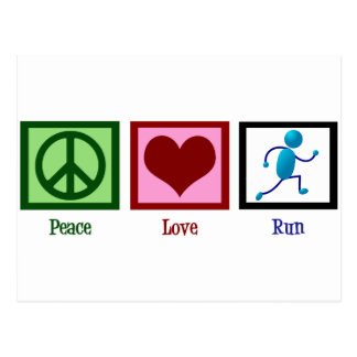 Peace Love Run Postcard
