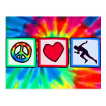 Peace, Love, Run Postcard