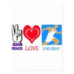 PEACE LOVE RUN POSTCARD