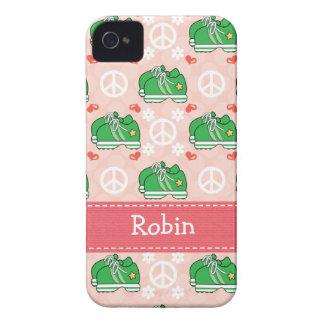 Peace Love Run Sneaker iPhone 4 / 4s Case-Mate Cov iPhone 4 Cover