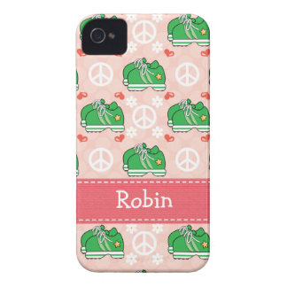 Peace Love Run Sneaker iPhone 4 / 4s Case-Mate Cov iPhone 4 Case-Mate Cases