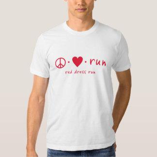 Peace Love Run T-shirts