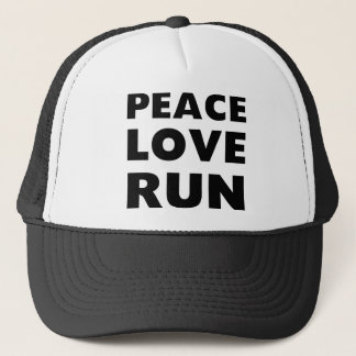 Peace Love Run Trucker Hat
