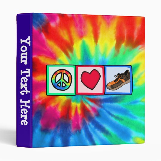 Peace, Love, Running 3 Ring Binder